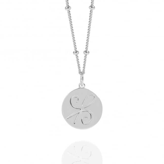 Friendship Silver Coin Necklace With Bead Chain
