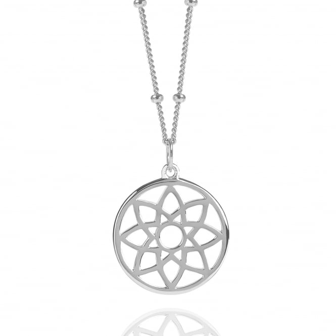 PROSPERITY Silver Dreamcatcher Necklace With Bead Chain