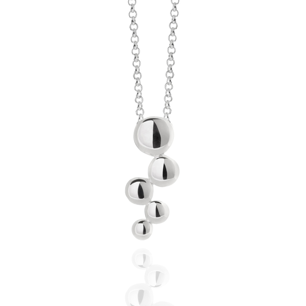 Bubble necklace sterling silver - Necklaces from Muru Jewellery UK