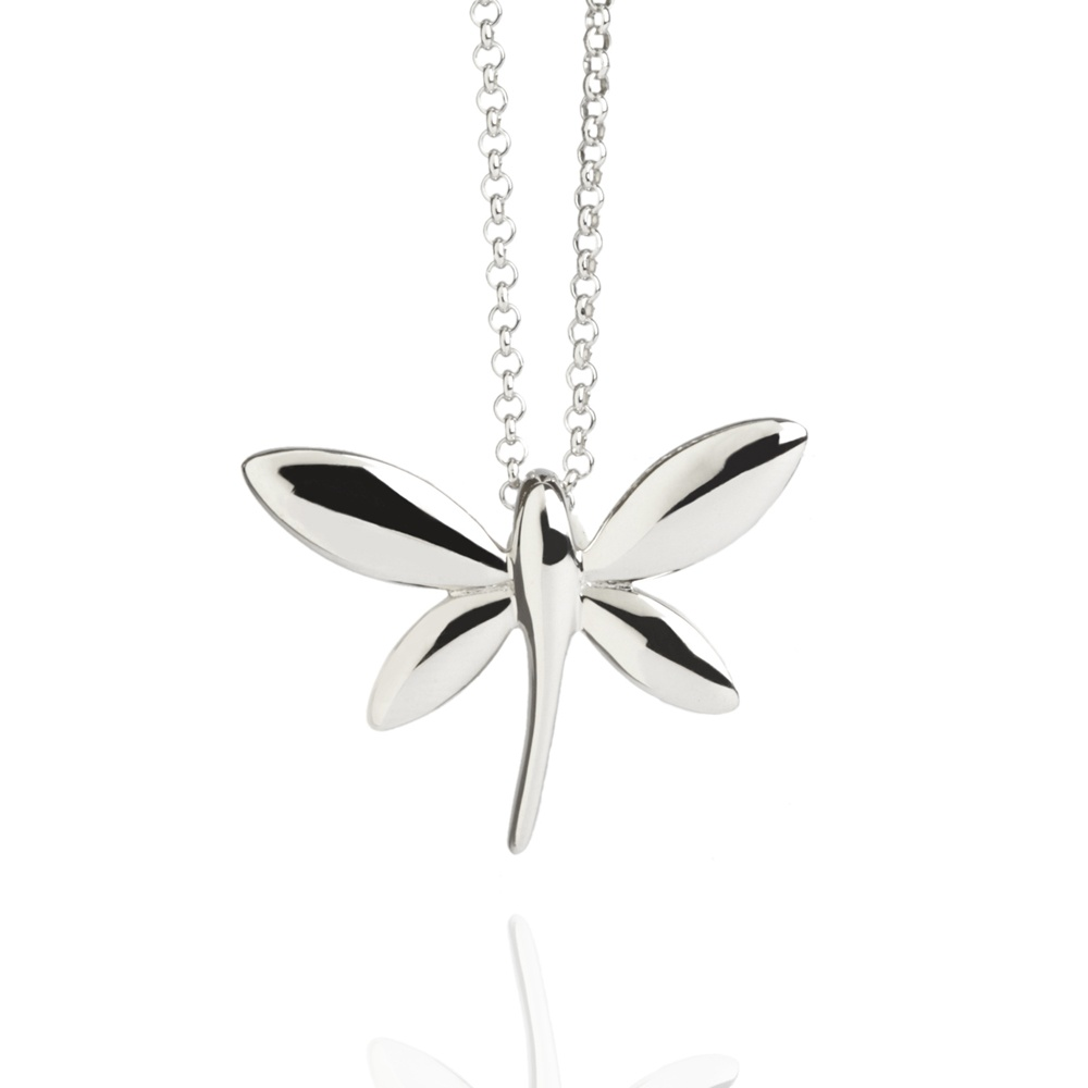 Dragonfly necklace sterling silver - Necklaces from Muru Jewellery UK
