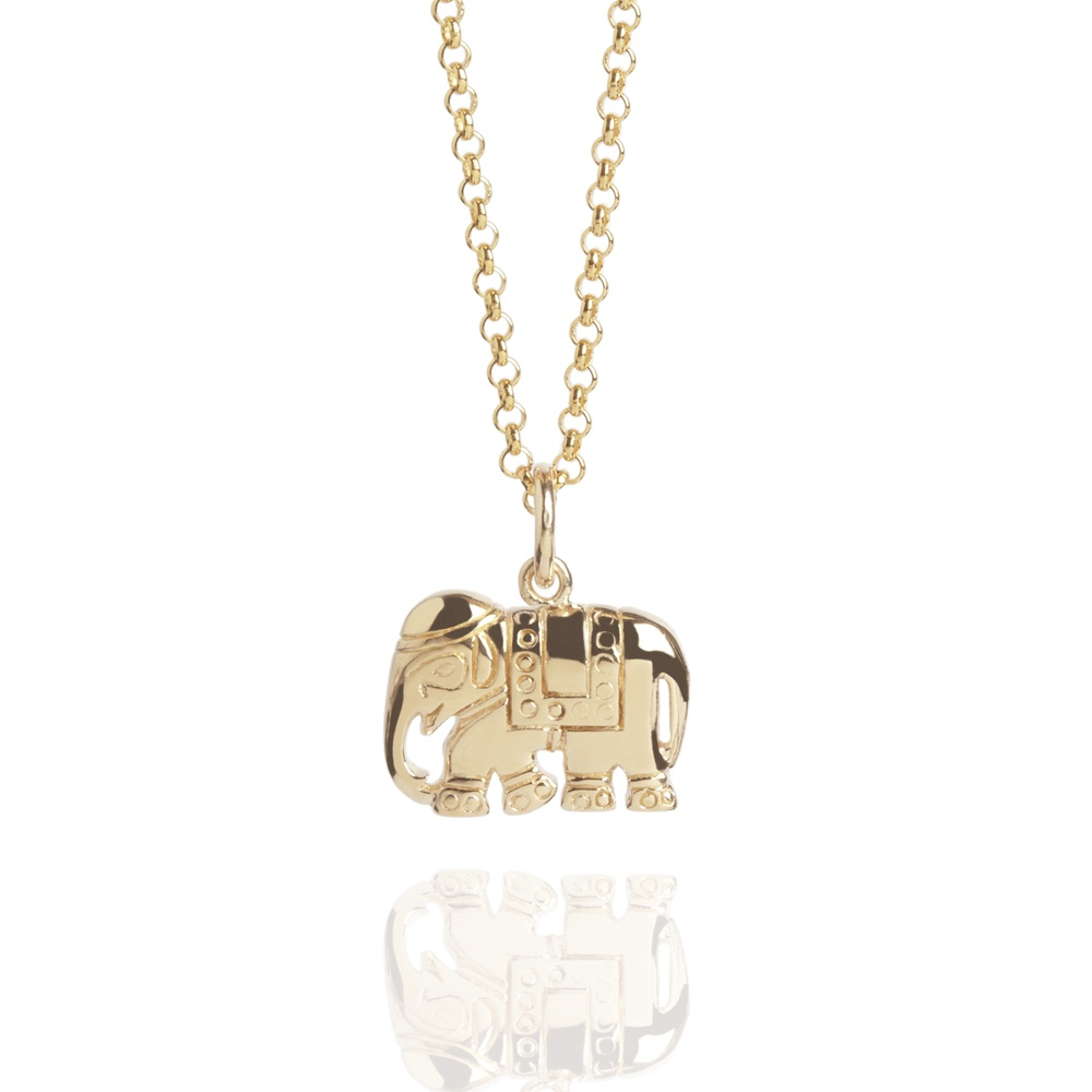 Relatively Elephant Charm Necklace Gold | Gold Vermeil Necklaces | Muru Jewellery PT64
