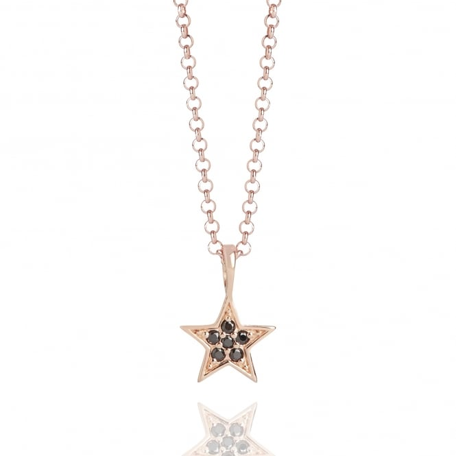 Hope Tiny Star Necklace Rose Gold