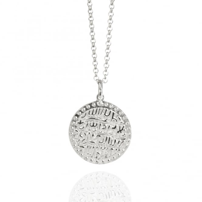 Wealth & Prosperity Ancient Coin Charm Necklace Silver (Midi-Length)