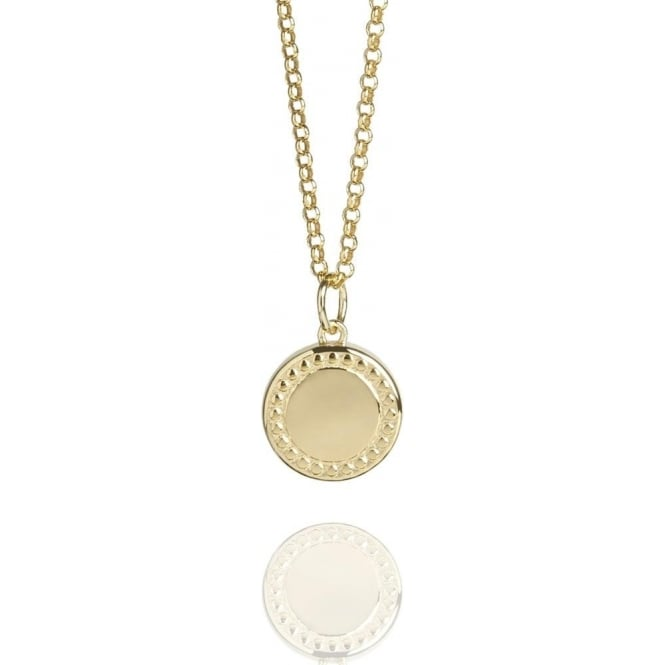 Wealth & Prosperity Coin Necklace Gold Vermeil