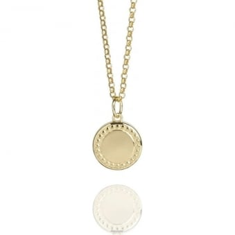 Coin Necklace Gold Vermeil