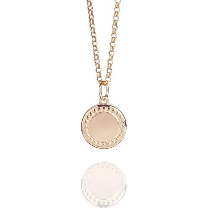 Wealth & Prosperity Coin Necklace Rose Gold