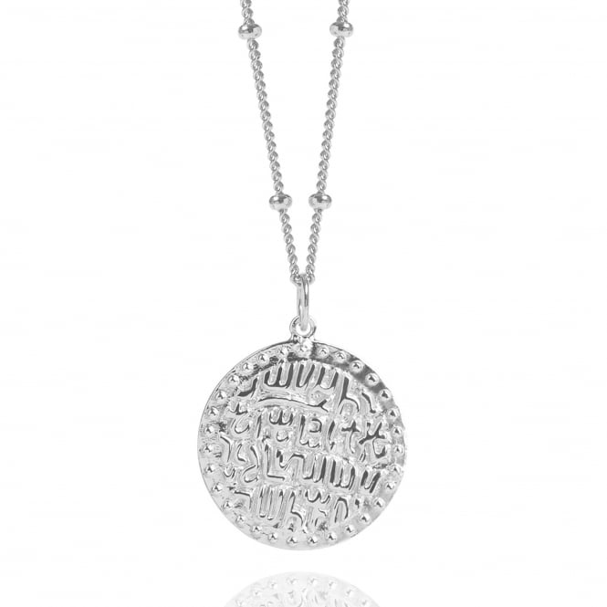 Wealth & Prosperity Silver Ancient Coin Necklace With Bead Chain