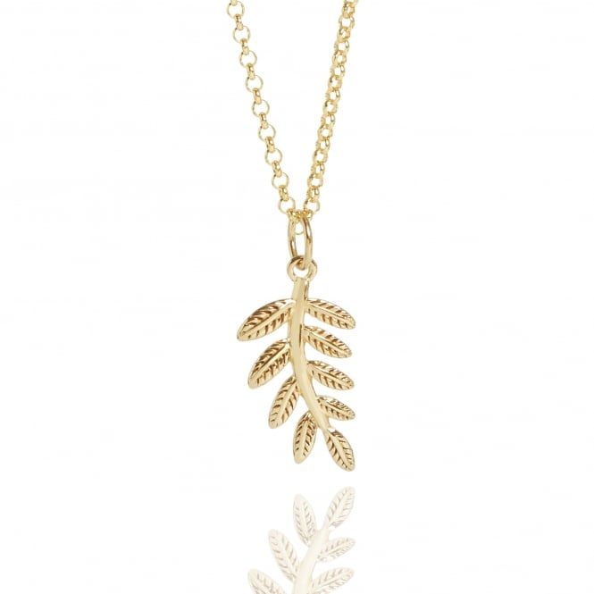 Wellbeing & Health Fern Necklace Gold