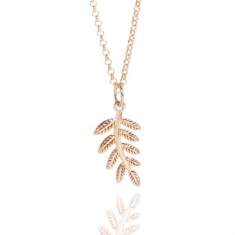 Fern Necklace Rose Gold
